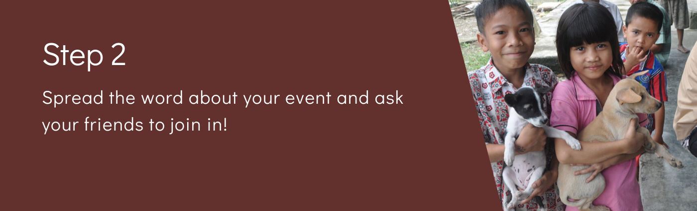 Step 2: Spread the word about your event