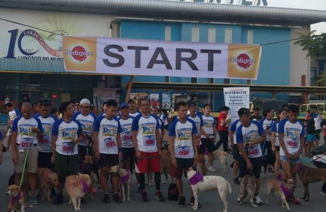 Dog walk fun run Muntinlupa City for Rabies Awareness Month March 2019